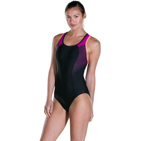 speedo Speedo Fit Pro Swimsuit Women Black/Diva/Fluo Orange